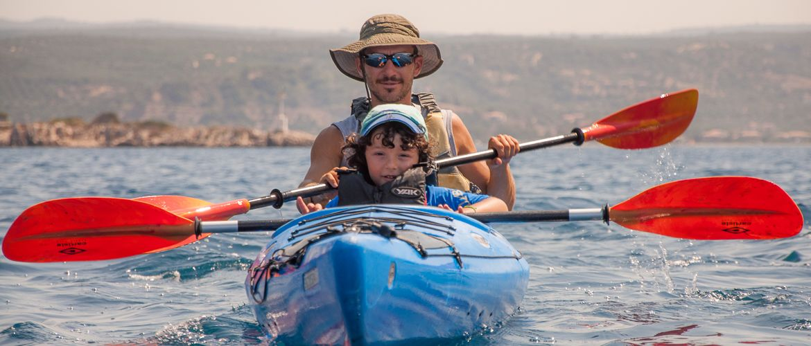 Sea kayaking for families
