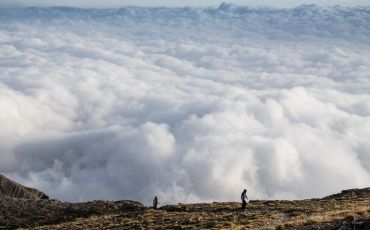 Taygetos above clouds